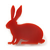 Orange Acrylic Bunny Brooch