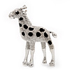 Silver Plated Giraffe Brooch