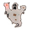 Flashing LED Blue and Red Lights Halloween Ghost Brooch - 35mm