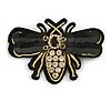 Large Funky Sequin Crystal Bee Brooch - 95mm Across