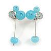 Aqua Blue Resin Bead Drop Earrings