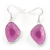 Pink Glass Drop Earrings