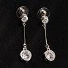 Clear Crystal CZ Drop Earrings