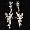 Crystal Fairy Drop Earrings (Silver Tone)