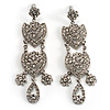 Divine Extravagance Chandelier Earrings (Silver&Clear)
