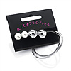 Versatile Set Of Hoop & Stud Earrings (Silver Tone)