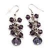 Light Purple Acrylic Bead Drop Earrings - 5cm Length