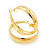 Gold Plated Hoop Earrings - 4cm Diameter