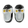 Children's/ Teen's / Kid's Small Black, White Enamel 'Shoe' Stud Earrings In Silver Tone - 13mm Length
