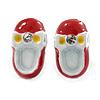 Children's/ Teen's / Kid's Small Dark Red, White Enamel 'Shoe' Stud Earrings In Silver Tone - 13mm Length