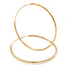 Medium Slim Hoop Earrings In Gold Tone Metal - 37mm D