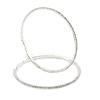 95mm Oversized Slim Clear Crystal Hoop Earrings In Silver Tone