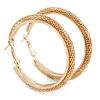 50mm Mesh Hoop Earrings In Gold Tone