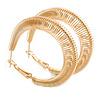 40mm Coil Spring Hoop Earrings In Gold Tone - Medium