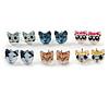 Children's/ Teen's / Kid's Acrylic Little Kittens Stud Earrings Set