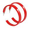 50mm Trendy Red Acrylic/ Plastic/ Resin Hoop Earrings