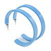 50mm Trendy Cornflower Blue Acrylic/ Plastic/ Resin Hoop Earrings