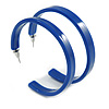 50mm Trendy Blue Acrylic/ Plastic/ Resin Hoop Earrings