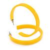 50mm Trendy Yellow Acrylic/ Plastic/ Resin Hoop Earrings