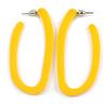 Trendy Yellow Acrylic/ Plastic/ Resin Oval Hoop Earrings - 60mm L
