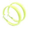 50mm Large Neon Yellow Wide Hoop Earrings