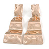 Contemporary Polished Hammered Wavy Drop Earrings In Rose Gold Tone - 65mm Long