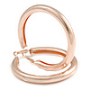 70mm Large Thick Textured/ Scratched Hoop Earrings In Rose Gold Tone