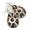 Teardrop Shell Earrings - 55mm Long