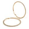 75mm Large AB Crystal Hoop Earrings In Gold Tone Metal