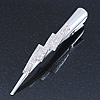 Bridal/ Prom/ Wedding Rhodium Plated Clear Crystal Hair Beak Clip/ Concord Clip - 13cm Length