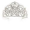 Statement Bridal/ Wedding/ Prom Rhodium Plated Austrian Crystal Tiara