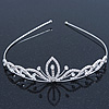Delicate Princess Bridal/ Wedding/ Prom Rhodium Plated Austrian Crystal Tiara