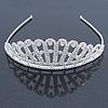 Bridal/ Wedding/ Prom Rhodium Plated Clear Austrian Crystal Starlet Tiara