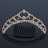 Bridal/ Wedding/ Prom/ Party Gold Plated Swarovski Crystal Hair Comb/ Tiara - 12cm