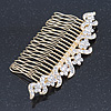 Bridal/ Wedding/ Prom/ Party Gold Plated Clear Austrian Crystal Hair Comb - 100mm