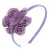Lavender Fabric Flower Flex HeadBand