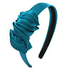 Teal Green Silk With Side Bow Alice/ Hair Band/ HeadBand