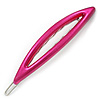Oval Deep Pink Acrylic Hair Slide - 90mm Across