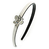White/ Black Acrylic Alice/ Hair Band/ HeadBand with Crystal Butterfly