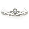 Bridal/ Wedding/ Prom Rhodium Plated CZ, Clear Crystal 'Regal' Classic Tiara