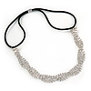 Wedding/ Bridal 'Twisted Stripes' Clear Crystal Elastic Hair Band/ Elastic Band/ Headband - 59cm L (not stretched)