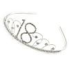 Bridal/ Wedding/ Prom Rhodium Plated Clear Crystal '18' Princess Classic Tiara