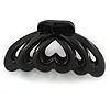 Large Black Acrylic Heart Hair Claw - 90mm Width