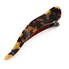 Tortoise Shell Effect Curved Acrylic Hair Beak Clip/ Concord Clip (Brown/ Yellow) - 10cm Across