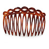 Classic Brown Acrylic Hair Comb - 75mm