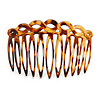 Tortoise Shell Effect Acrylic Hair Comb - 75mm