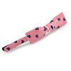 1Pcs Pink with Purple Hearts Acrylic Bow Hair Grip/ Slide In Black Tone Metal - 65mm Across