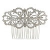 Bridal/ Wedding/ Prom/ Party Art Deco Style Rhodium Plated Austrian Crystal Hair Comb - 85mm W