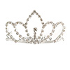 Fairy Princess Bridal/ Wedding/ Prom/ Party Silver Tone Crystal Mini Hair Comb Tiara - 75mm