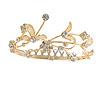 Fairy Princess Bridal/ Wedding/ Prom/ Party Gold Tone Clear Crystal Mini Hair Comb Tiara - 70mm